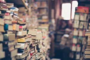 Several stacks of books